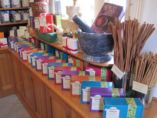 Spice boxes at Herbies